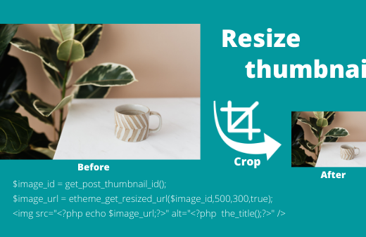 How to resize post featured image in using wordpress function